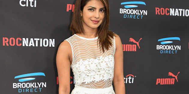Priyanka Chopra arrives at the Roc Nation Pre-Grammy Brunch at RocNation Offices on Saturday, Feb. 7, 2015, in Beverly Hills, Calif. (Photo by Rob Latour/Invision/AP)
