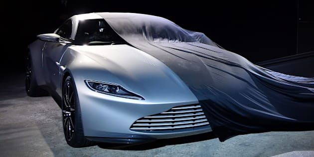 The new Bond car, an Aston Martin DB10, is unveiled during an event to launch the 24th James Bond film 'Spectre' at Pinewood Studios at Iver Heath in Buckinghamshire, west of London, on December 4, 2014. French actress Lea Seydoux and Italian star Monica Bellucci will star alongside Britain's Daniel Craig in the new James Bond film 'Spectre', the producers said on December 4 at the historic Pinewood Studios. AFP PHOTO / BEN STANSALL        (Photo credit should read BEN STANSALL/AFP/Getty Images)