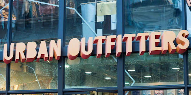 Urban Outfitters retail store sign in Philadelphia, PA
