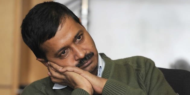 NEW DELHI, INDIA - DECEMBER 12: Aam Aadmi Party convener and Former Chief Minister of Delhi Arvind Kejriwal during an exclusive interview with Hindustan Times at HT House on December 12, 2014 in New Delhi, India. AAP declared that Arvind Kejriwal will be pitted against BJP's veteran leader Jagdish Mukhi. AAP has dared the BJP to field the senior BJP leader against Kejriwal for the party's posterboy Narendra Modi won't contest against Kejriwal in state polls. (Photo By Sonu Mehta/Hindustan Times via Getty Images)