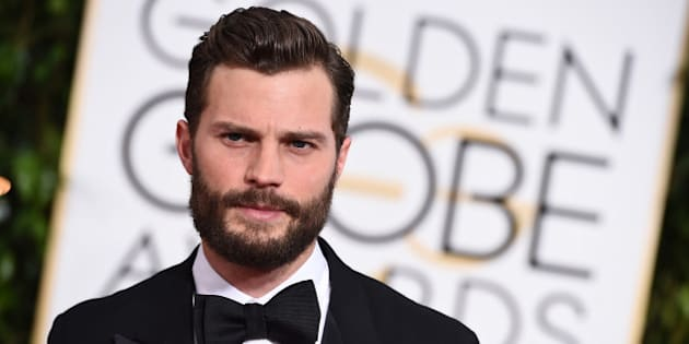 Jamie Dornan arrives at the 72nd annual Golden Globe Awards at the Beverly Hilton Hotel on Sunday, Jan. 11, 2015, in Beverly Hills, Calif. (Photo by Jordan Strauss/Invision/AP)