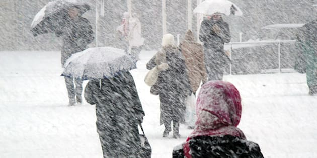 Snowstorm in Finland.