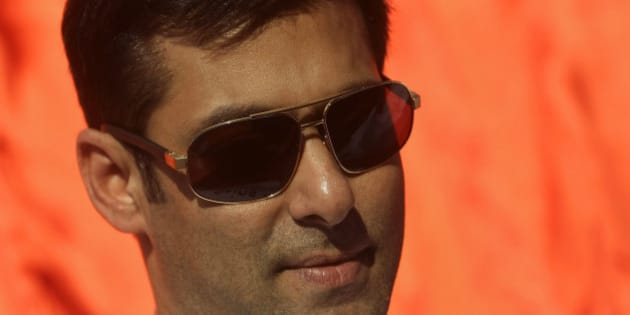 Bollywood actor Salman Khan looks on during Kingfisher swimsuit calendar launch in Mumbai, India, Saturday, Dec. 18, 2010. (AP Photo/Rajanish Kakade)