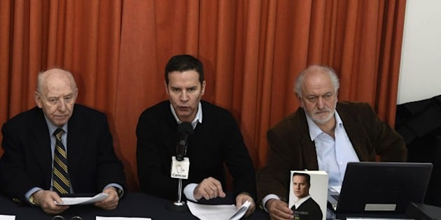 Mexican victim of pedophilia Jose Barba (L), Chilean victim of the pedophilia Juan Carlos Cruz (C) and Mexican former priest Alberto Athie attend a press conference in Mexico City on February 16, 2015. Victims of sexual abuse from members of the church gathered Monday to demand Argentinian Pope Francis to take action. AFP PHOTO/ALFREDO ESTRELLA        (Photo credit should read ALFREDO ESTRELLA/AFP/Getty Images)