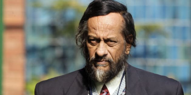 Chairman of the Intergovernmental Panel on Climate Change Rajendra Pachauri, arrives for a press conference in New Delhi, India, Wednesday, Dec. 23, 2009. The emergence of China, India, South Africa and Brazil as a grouping was the most significant political outcome of the Copenhagen climate conference, Pachauri said Wednesday. (AP Photo/Gurinder Osan)
