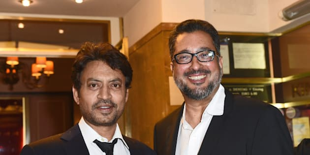 MUNICH, BAYERN - JUNE 30:  Irrfan Khan and director Anup Singh attend the 'Qissa' Premiere as part of Filmfest Muenchen 2014 on June 30, 2014 in Munich, Germany.  (Photo by Hannes Magerstaedt/Getty Images for Filmfest Muenchen)