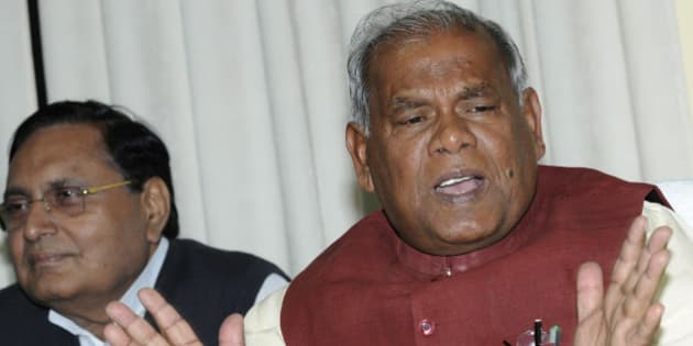 PATNA, INDIA - FEBRUARY 13: Bihar Chief Minister Jitan Ram Manjhi addressing the media at his residence on February 13, 2015 in Patna, India. Bihar Chief Minister Jitan Ram Manjhi said his predecessor and senior JD-U leader Nitish Kumar made a mahagalti (huge mistake) by nominating him chief minister last year and that he is not a rubber stamp chief minister. BJP demanded secret voting during the vote of confidence sought by Jitan Ram Manjhi government on the floor of the House on February 20. (Photo by AP Dube/Hindustan Times via Getty Images)