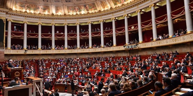 PARIS, FRANCE - DECEMBER 02: French lawmakers have voted in favor of a resolution calling on the French government to recognize the state of Palestine at French National Assembly building (Assemblée Nationale) in Paris, France on December 02, 2014. A general view from the session. (Photo by Mustafa Yalcin/Anadolu Agency/Getty Images)