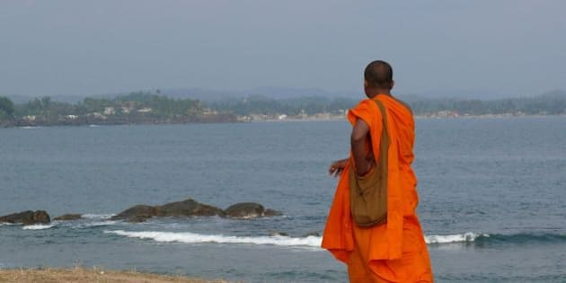 Monk at the Fort, Galle Sri Lanka