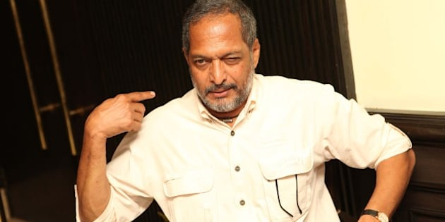 NEW DELHI, INDIA - FEBRUARY 25: Indian actor Nana Patekar during promotion of his upcoming film The Attacks of 26/11 at PVR Rivoli on February 25, 2013 in New Delhi, India. The Hindi crime-thriller film is based on the 2008 Mumbai attacks. (Photo by Manoj Verma/Hindustan Times via Getty Images)