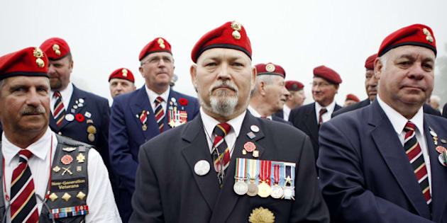 Canadian veterans take part in the 70th anniversary ceremony of the Dieppe Raid on August 19, 2012 in Dieppe, northwestern France, in memory of the Second World War Allied attack on the German-occupied port of Dieppe on August 19, 1942. Over 6,000 infantrymen, predominantly Canadian, were supported by limited Royal Navy and large Royal Air Force contingents, and 900 Canadians perished. AFP PHOTO / CHARLY TRIBALLEAU        (Photo credit should read CHARLY TRIBALLEAU/AFP/GettyImages)