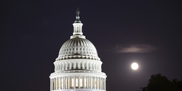 Close up of the dome of United States Capitol, Washington D.C., USA.
