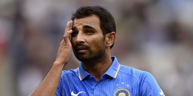 India's Mohammed Shami prepares to bowl against Australia during their One Day International cricket match in Melbourne, Sunday, Jan. 18, 2015. (AP Photo/Andy Brownbill)