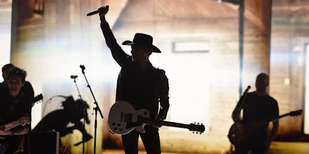 WINNIPEG, MB - MARCH 30:  Singer Brett Kissel  performs on stage at the 2014 Juno Awards held at the MTS Centre on March 30, 2014 in Winnipeg, Canada.  (Photo by Jag Gundu/Getty Images)