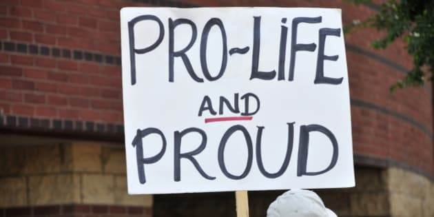 Pro-life anti-abortion activist protestors, Louisville, KY