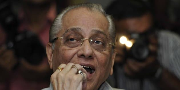 KOLKATA, INDIA - JUNE 3: Interim BCCI Chief Jagmohan Dalmiya addressing a press conference at Eden Garden on June 3, 2013 in Kolkata, India. Addressing his first press conference since taking over charge from N Srinivasan who stepped aside over Spot-fixing issue, Dalmiya said that he will make all efforts to achieve the ultimate goal so that the good name of cricket is retained. (Photo by Subhankar Chakraborty/Hindustan Times via Getty Images)