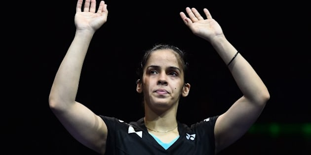 India's Saina Nehwal waves to the crowd after being defeated by Spain's Carolina Marin (not pictured) in their All England Open Badminton Championships women's singles final match in Birmingham, central England, on March 8, 2015. AFP PHOTO / BEN STANSALL        (Photo credit should read BEN STANSALL/AFP/Getty Images)
