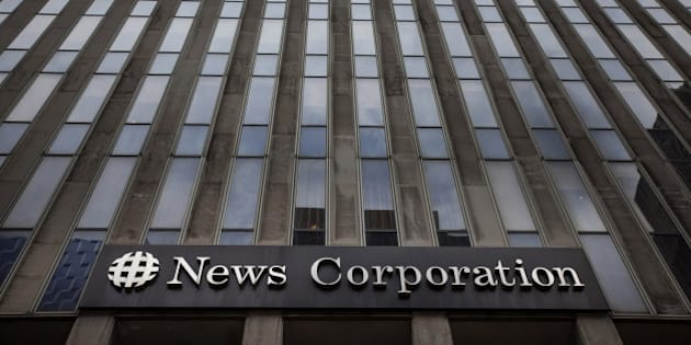 The News Corp. headquarters building stands in New York, U.S., on Thursday, July 24, 2014. News Corp. is scheduled to release earnings figures on Aug. 8. Photographer: Michael Nagle/Bloomberg via Getty Images