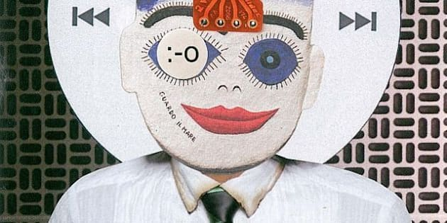 handmade, scissor n´glue collage to illustrate an article about technology (folha de s. paulo newspaper). december, 2009.