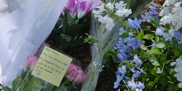 Flowers are laid in a Sydney park on March 9, 2015, on the spot where a mother from India, IT professional Prabha Arun Kumar, 41, was stabbed to death during a brutal attack while speaking by phone to her distraught husband in India, according to reports. Kumar was knifed as she took a shortcut home through Parramatta Park in the city's west at around 9.30pm on the night of March 7.   AFP PHOTO / Peter PARKS        (Photo credit should read PETER PARKS/AFP/Getty Images)