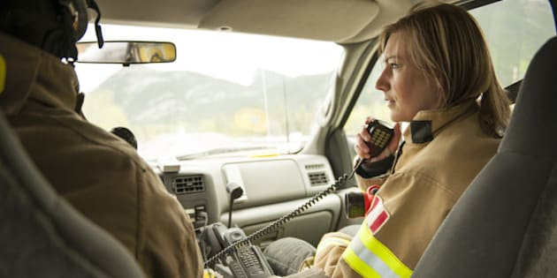Emergency services workers answer call on road