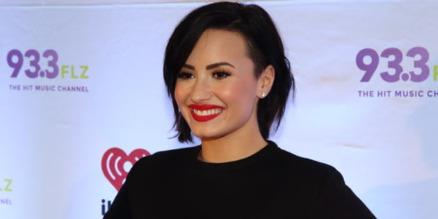 Demi Lovato attends 93.3 FLZ's Jingle Ball 2014 at Amalie Arena on Friday, Dec. 22, 2014, in Tampa, Florida. (Photo by John Davisson/Invision/AP)
