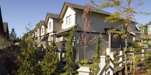 exterior townhouse neighbourhood vancouver british columbia real estate