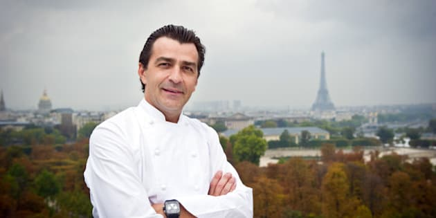French three stars chef of 'Le Meurice' restaurant, Yannick Alleno, poses on October 15, 2010 in Paris. Alleno tries to renew Paris gastronomy by using regional products.  AFP PHOTO / MARTIN BUREAU (Photo credit should read MARTIN BUREAU/AFP/Getty Images)