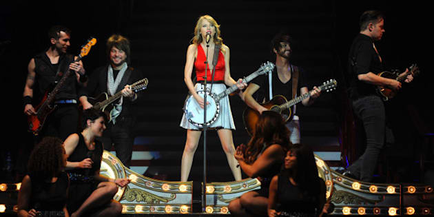 LONDON, ENGLAND - FEBRUARY 11:  Seven-time Grammy winner Taylor Swift concluded the European leg of her RED tour with her 5th sold-out show at London's O2 Arena, playing to a capacity crowd of more than 15500 fans on February 11, 2014 in London, England.  (Photo by Dave Hogan/TAS/Getty Images for TAS)