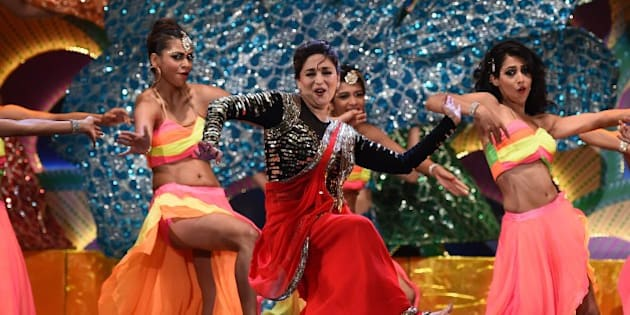 Bollywood actress Madhuri Dixit performs on stage during the fourth and final day of the 15th International Indian Film Academy (IIFA) Awards at the Raymond James Stadium in Tampa, Florida, April 26, 2014. AFP PHOTO/Jewel Samad        (Photo credit should read JEWEL SAMAD/AFP/Getty Images)