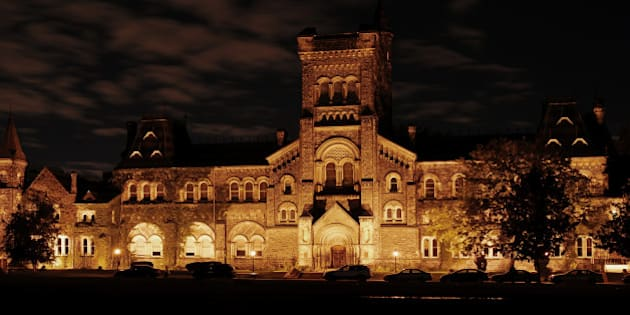 University College, the main building of the University of Toronto, constructed in the 1850s.