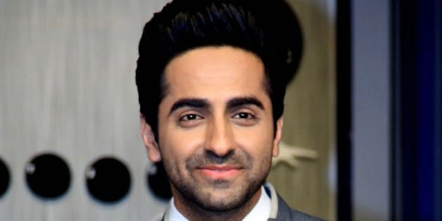 Indian Bollywood actor Ayushmann Khurrana poses during a promotional event for the forthcoming Hindi film 'Bewakoofiyaan' in Mumbai on March 12, 2014. AFP PHOTO/STR        (Photo credit should read STRDEL/AFP/Getty Images)