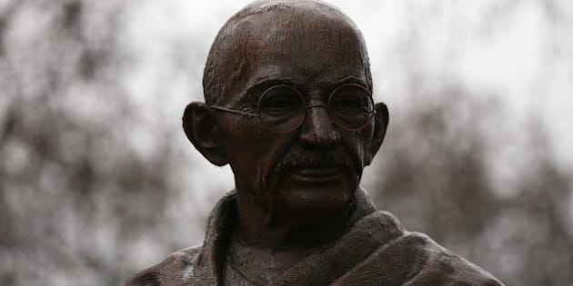 LONDON, ENGLAND - MARCH 16:  A statue of Indian independence leader Mahatma Gandhi is pictured in Parliament Square on March 16, 2015 in London, England. The 2.7m bronze statue was unveiled in a ceremony at the weekend attended by Prime Minister David Cameron and marks 100 years since Gandhi returned to India from South Africa to start his struggle for independence from British colonial rule.  (Photo by Carl Court/Getty Images)