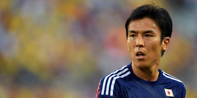 CUIABA, BRAZIL - JUNE 24: Makoto Hasebe of Japan looks on during the 2014 FIFA World Cup Brazil Group C match between Japan and Colombia at Arena Pantanal on June 24, 2014 in Cuiaba, Brazil.  (Photo by Stuart Franklin - FIFA/FIFA via Getty Images)