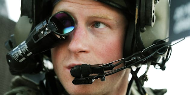 FILE- In this file photo taken Dec. 12, 2012 and made available Monday Jan. 21, 2013 Britain's Prince Harry or just plain Captain Wales as he is known in the British Army, wears his monocle gun sight as he sits in the front seat of his cockpit at the British controlled flight-line in Camp Bastion southern Afghanistan. It's a soldier's life no more for Britain's Prince Harry as royal officials said Tuesday, March 17, 2015, that the 30-year old prince will leave the armed forces in June after 10-years of service that included two tours of duty in Afghanistan. (AP Photo/ John Stillwell, Pool, File)
