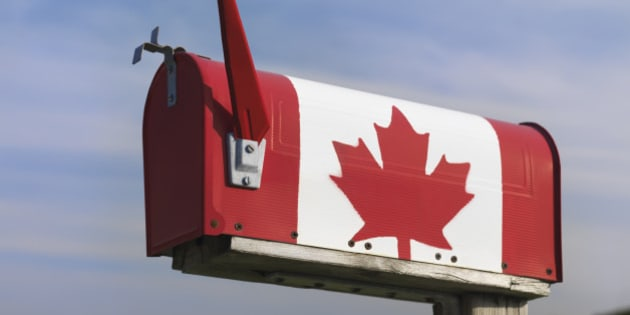 Mailbox with a Canadian, Ontario, Canada