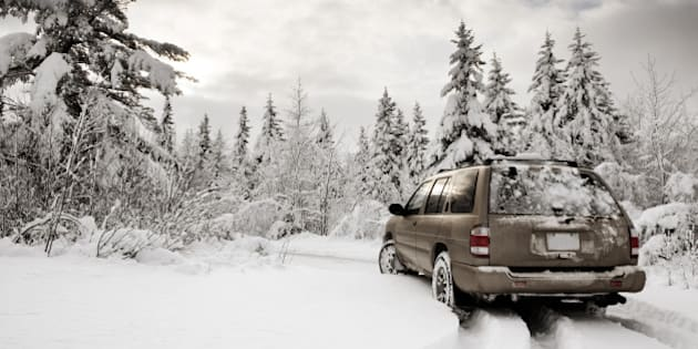 Suv in the Snow