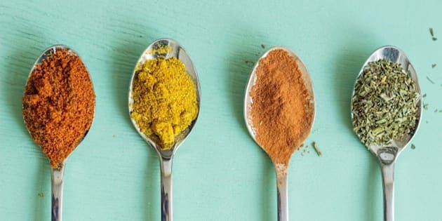 Spoon with spices