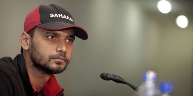 Bangladesh's captain Masrafe bin Mortaza addresses a press conference ahead of the ICC Cricket World Cup 2015 in Canberra, Australia, at the Sher-e-Bangla National Cricket Stadium in Dhaka, Bangladesh, Thursday, Jan. 22, 2015. The World Cup begins from Feb. 14 to March 28. (AP Photo/A.M. Ahad)