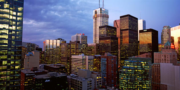 Skyscrapers in a city, Toronto, Ontario, Canada 2011
