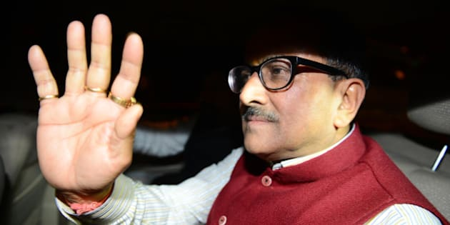 NEW DELHI, INDIA  MARCH 10: Jammu and Kashmir deputy CM Nirmal Singh going to met BJP president Amit Shah in New Delhi.(Photo by Parveen Negi/India Today Group/Getty Images)