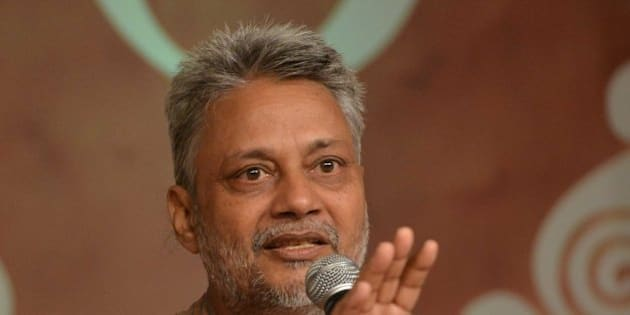 NEW DELHI, INDIA  SEPTEMBER 02: Rajendra Singh speaks at the Panchayat Aaj Tak 2014 in New Delhi on Tuesday, September 02, 2014.(Photo by Ramesh Sharma/India Today Group/Getty Images)