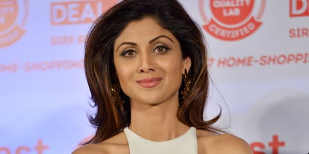 MUMBAI,INDIA MARCH 05: Shilpa Shetty at the launch of the new upcoming shopping channel in Mumbai.(Photo by Milind Shelte/India Today Group/Getty Images)