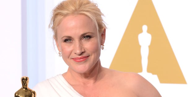 HOLLYWOOD, CA - FEBRUARY 22:  Actress Patricia Arquette, with the award for best actress in a supporting role for 'Boyhood' poses in the press room during the 87th Annual Academy Awards at Loews Hollywood Hotel on February 22, 2015 in Hollywood, California.  (Photo by C Flanigan/Getty Images)