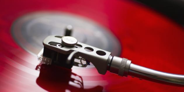 Detail of record player