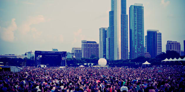 CHICAGO, IL - AUGUST 03:  (EDITORS NOTE: This image was processed using digital filters) General atmosphere of Lollapalooza 2014 at Grant Park on August 3, 2014 in Chicago, Illinois.  (Photo by Timothy Hiatt/Getty Images)