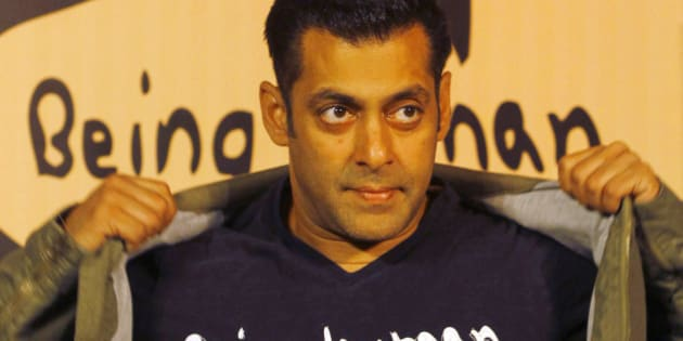 FILE – In this Thursday, Jan. 17, 2013 file photo, Bollywood star Salman Khan poses wearing a Being Human T-shirt during the launch of Being Human's first flagship store in Mumbai, India. A Mumbai court has ruled that Khan will be tried for homicide for his alleged involvement in a fatal road accident more than 10 years ago. If convicted he faces up to 10 years in jail. The trial will begin on July 19. (AP Photo/Rafiq Maqbool)FILE – In this Thursday, Jan. 17, 2013 file photo, Bollywood star Salman Khan poses wearing a Being Human t-shirt during the launch of Being Human's first flagship store in Mumbai, India. A Mumbai court has ruled that Indian movie star Salman Khan, who is one of Bollywood's biggest stars, will be tried for homicide for his alleged involvement in a fatal road accident more than 10 years ago. If convicted he faces up to 10 years in jail. The trial will begin on July 19. (AP Photo/Rafiq Maqbool, File)