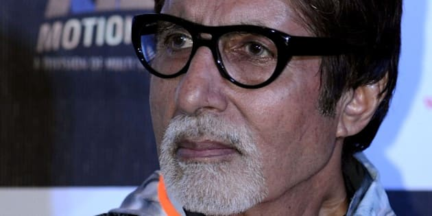 Indian Bollywood actors Amitabh Bachchan looks on during a promotional event for the forthcoming Hindi film 'Piku' directed by Shoojit Sircar in Mumbai on late March 25, 2015. AFP PHOTO / STR        (Photo credit should read STRDEL/AFP/Getty Images)