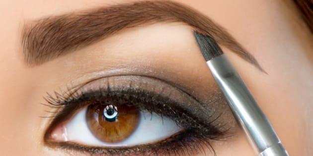 make up. eyebrow makeup.brown...