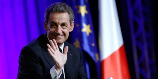 President of the UMP right-wing opposition party and former French President, Nicolas Sarkozy, gestures during a campaign rally ahead of the second round of the French Departementales elections, on March 24, 2015 in Asnieres-sur-Seine, outside Paris. AFP PHOTO / THOMAS SAMSON        (Photo credit should read THOMAS SAMSON/AFP/Getty Images)